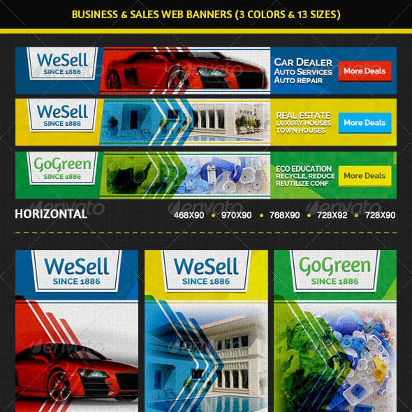 Sales & Services Business Web Banners