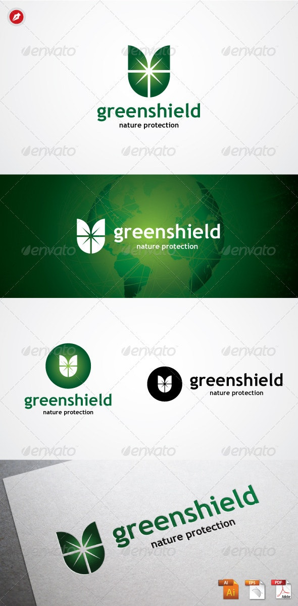 Green Shield Logo - Logo Templates