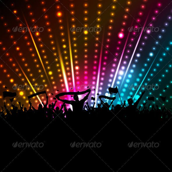 Disco crowd background