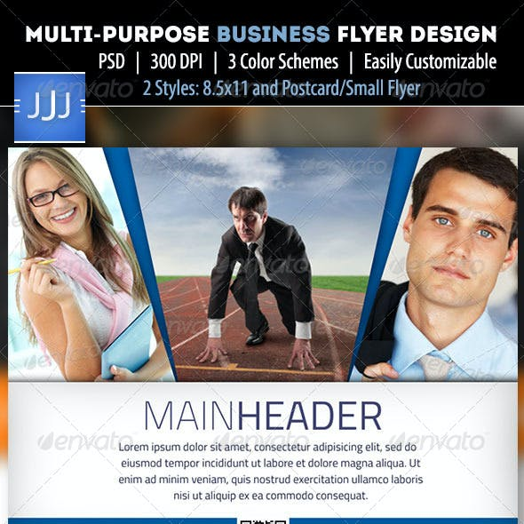 Business Flyer 11 with Postcard