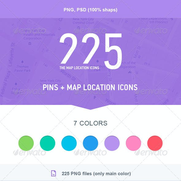 The Map Location Icons 225