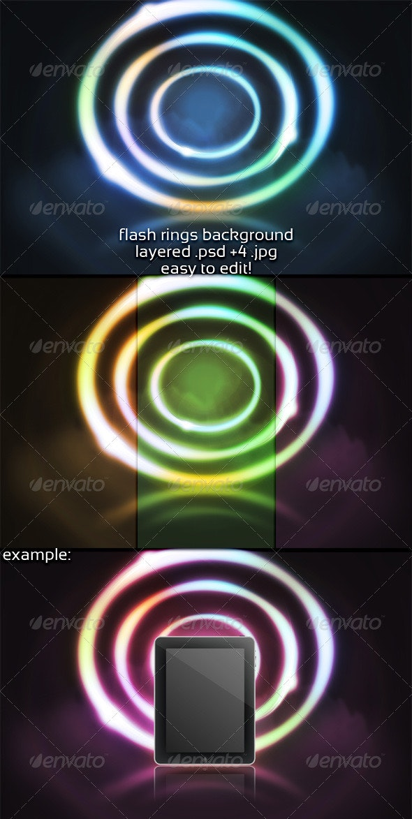 Flash Rings Background - 3D Backgrounds