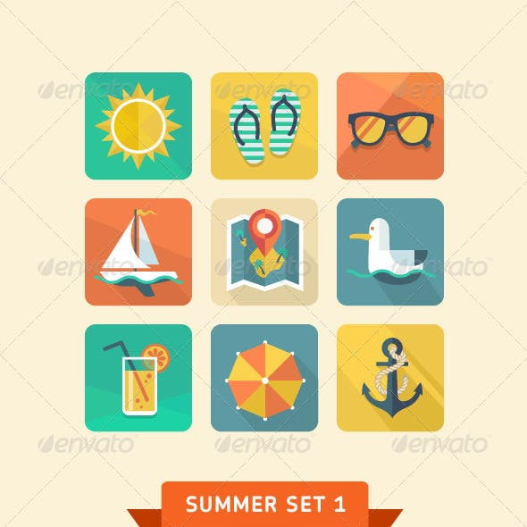 Summer icons 1.