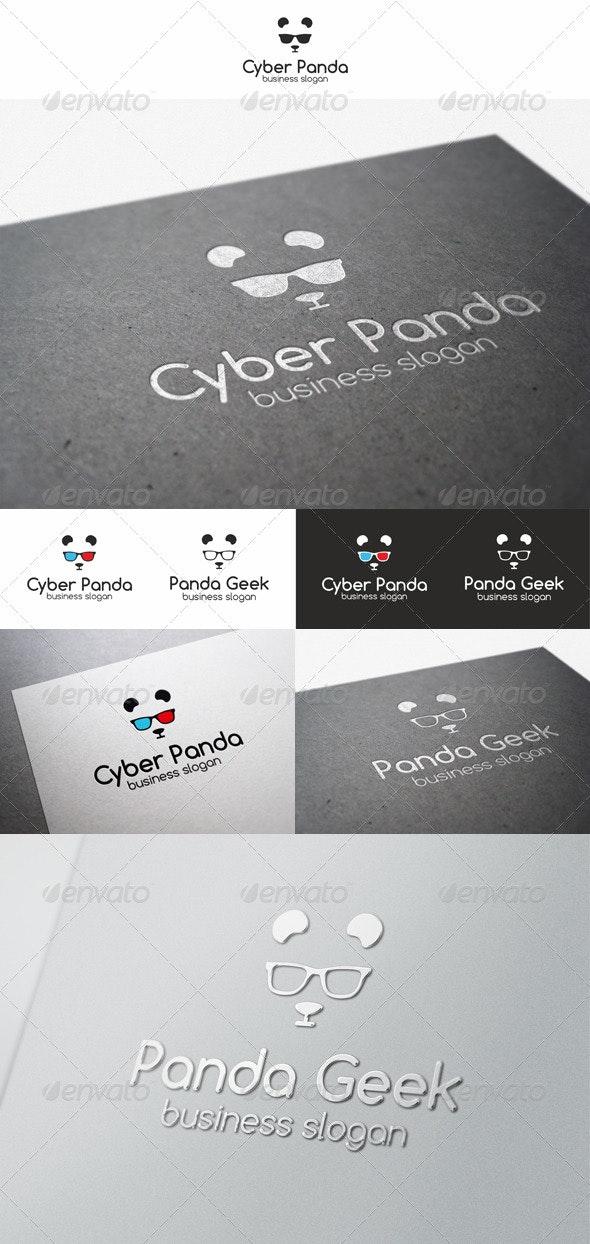 Panda Geek Logo Animal - Animals Logo Templates