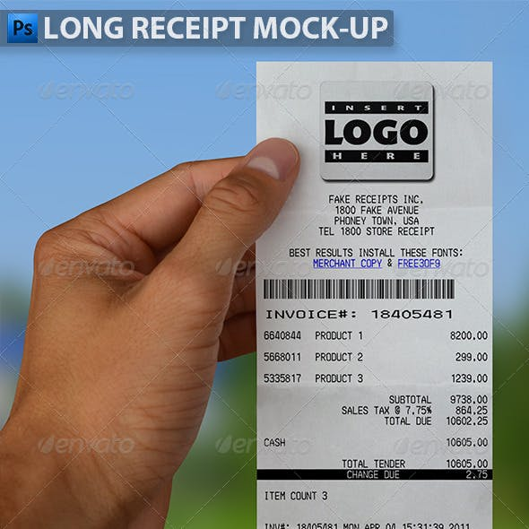 Receipt Graphics, Designs & Templates from GraphicRiver
