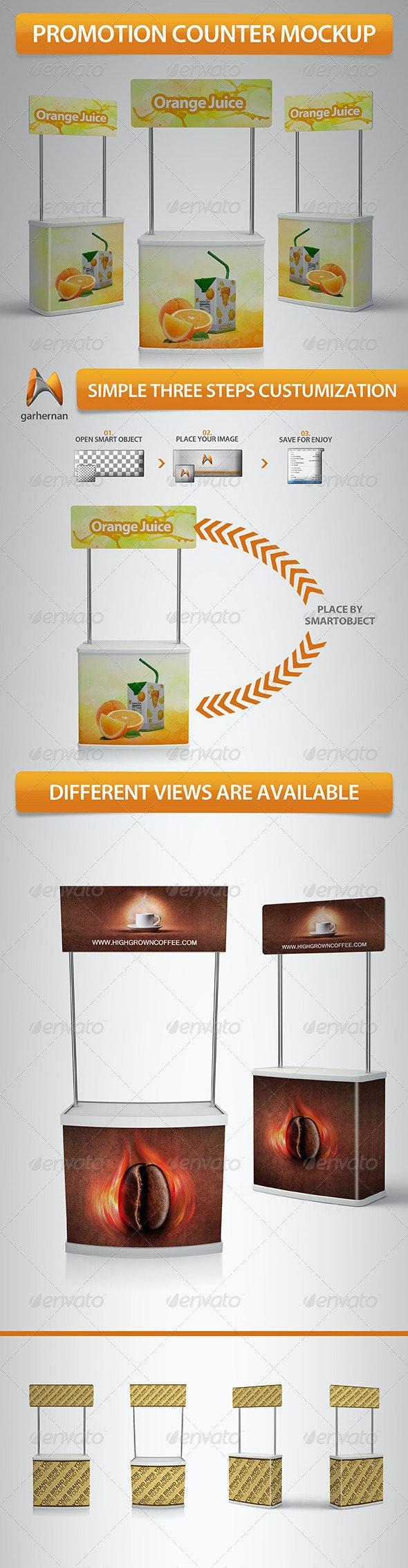 Promotion Stand Mockup - Miscellaneous Displays