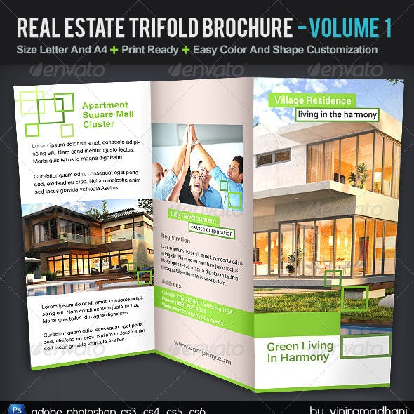 Real Estate TriFold Brochure | Volume 1