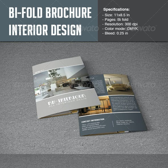 Bifold Brochure for Interior Design