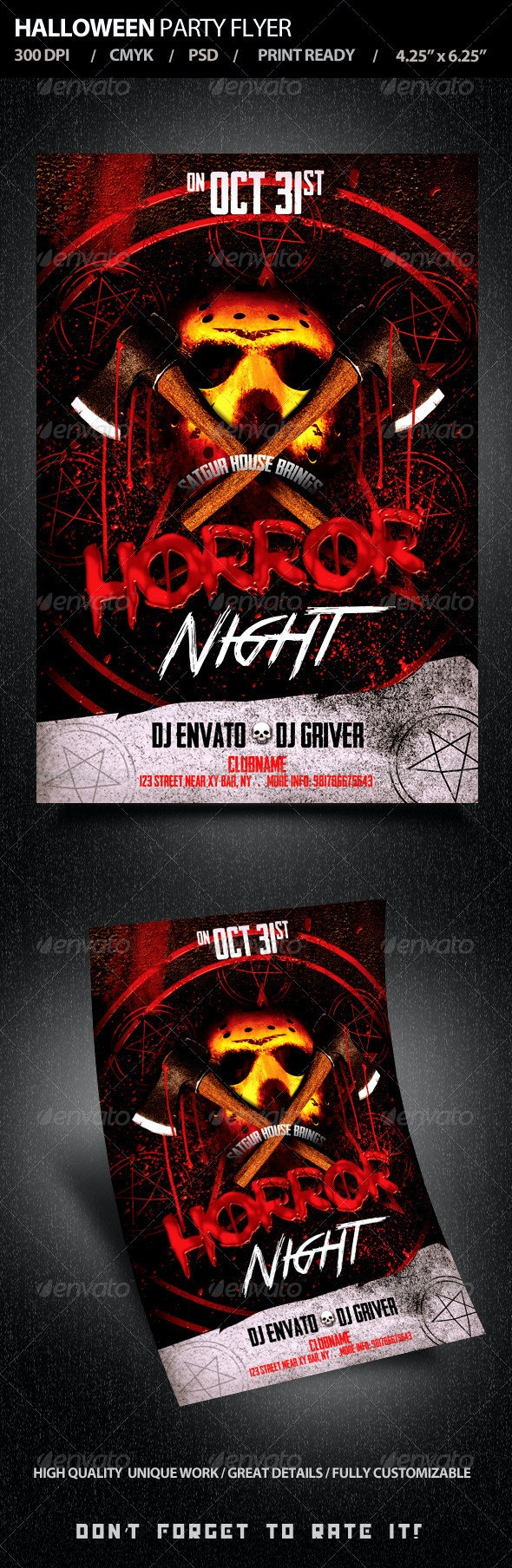 Halloween Party Flyer V3 - Holidays Events