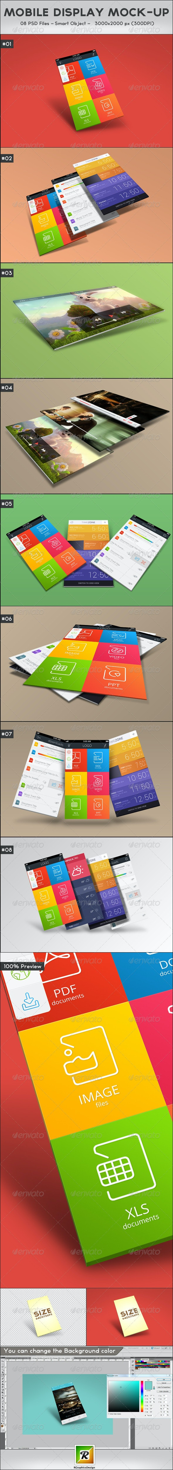 Mobile Display Mock-Up - Mobile Displays