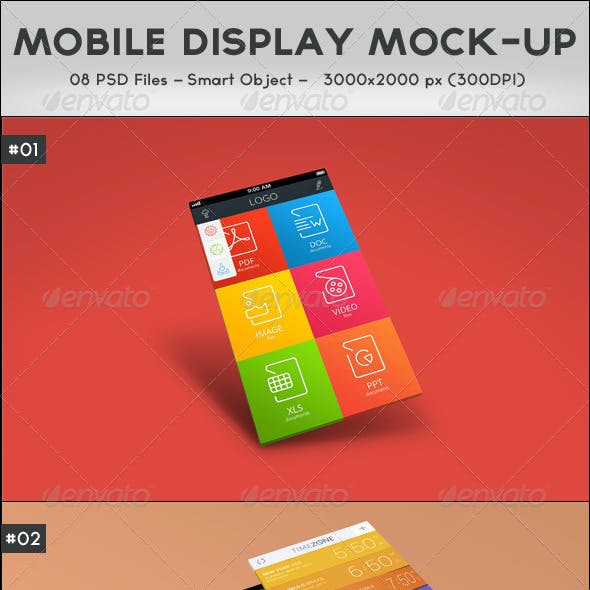 Mobile Display Mock-Up