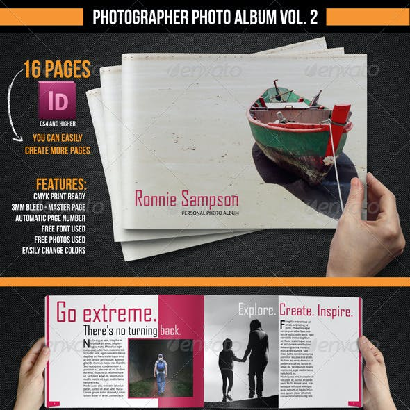 Photographer Photo Album Vol. 2