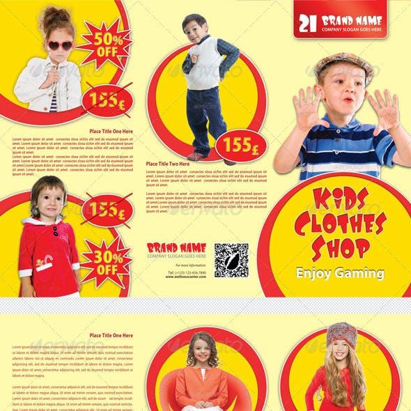 Kids Clothes Shop 3-Fold Brochure 01