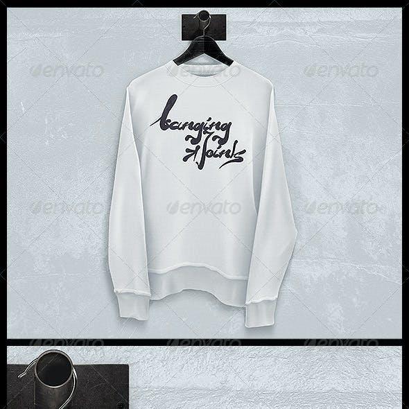 Black White Sweatshirt Mockup