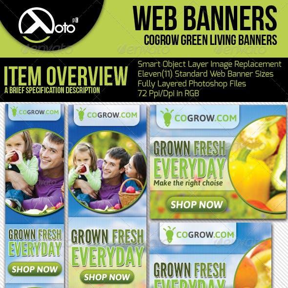 Healthy Organic Living Web Banners