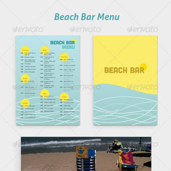 Beach Bar Graphics Designs Templates