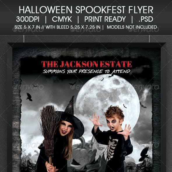 Halloween Spookfest Flyer