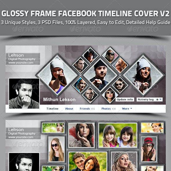 Glossy Frame Facebook Timeline Cover V2