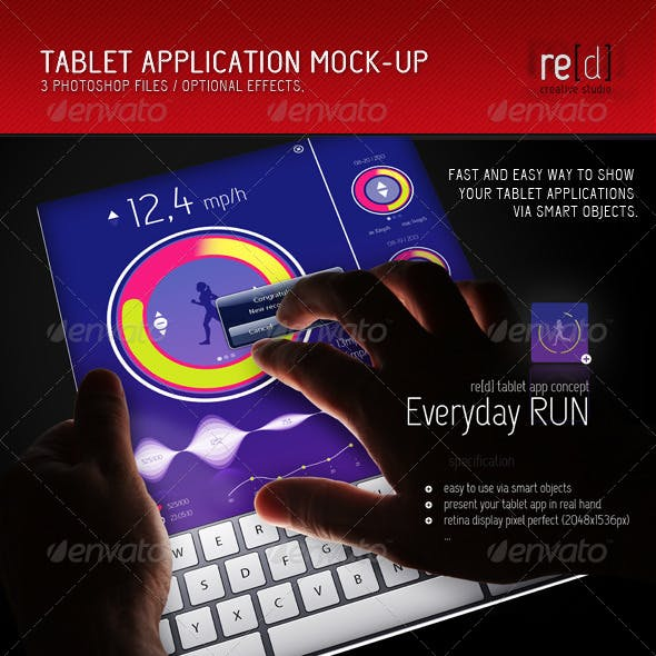 Tablet Application Mock-Up