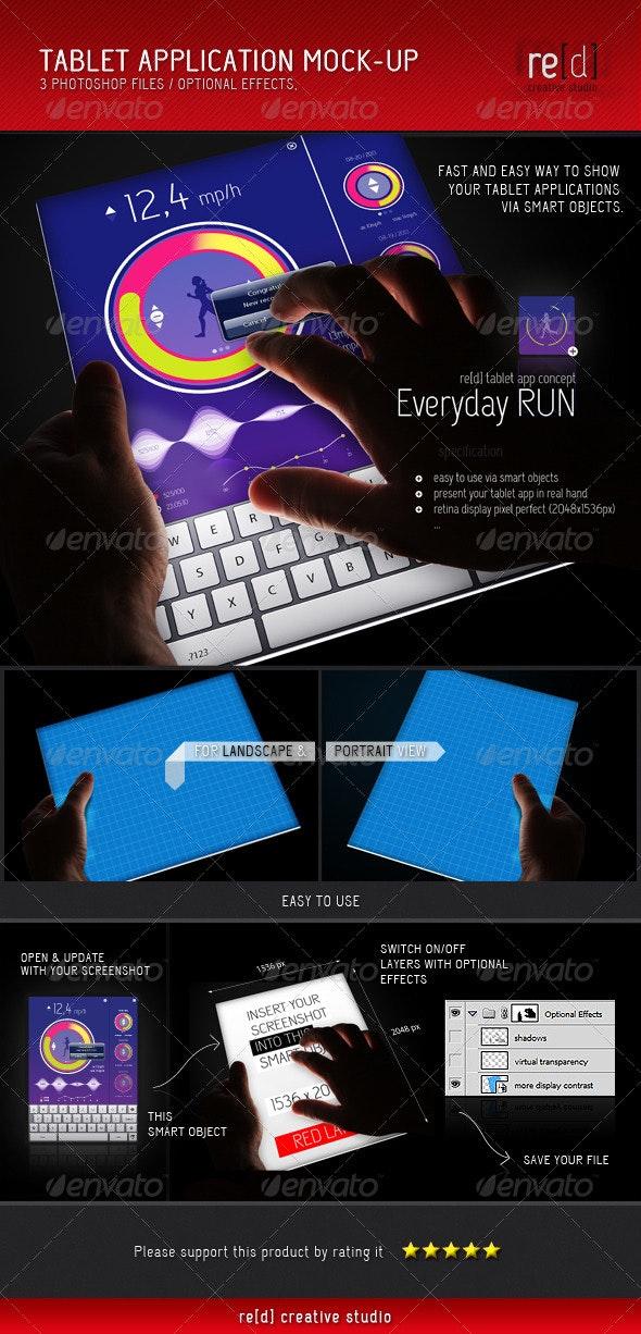 Tablet Application Mock-Up - Mobile Displays
