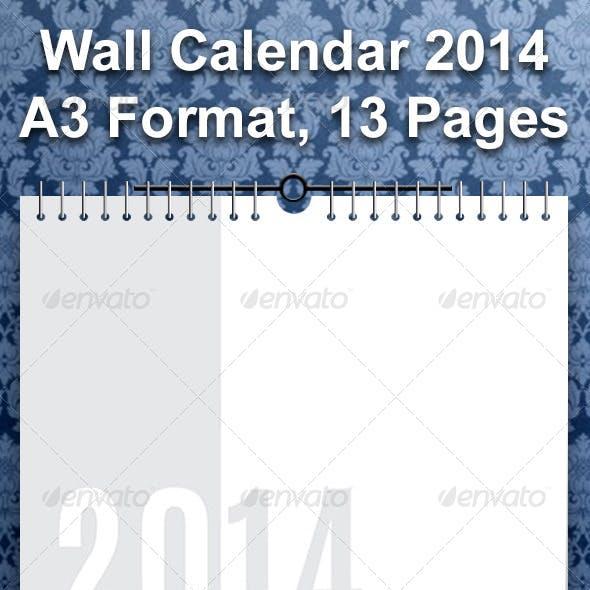 Calendar 2014 - A3 (13 Pages)