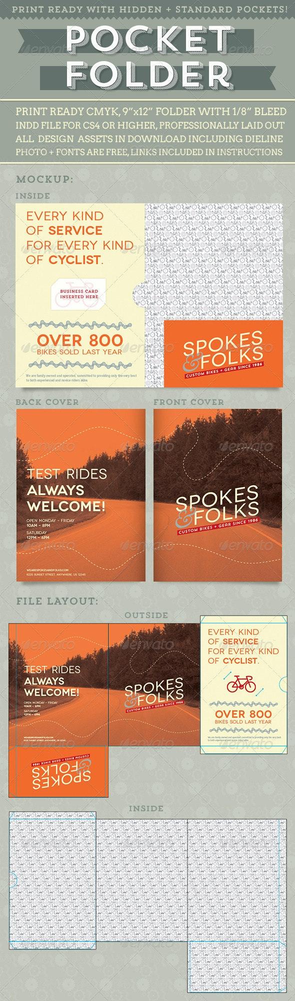 Custom Pocket Folder - Brochures Print Templates