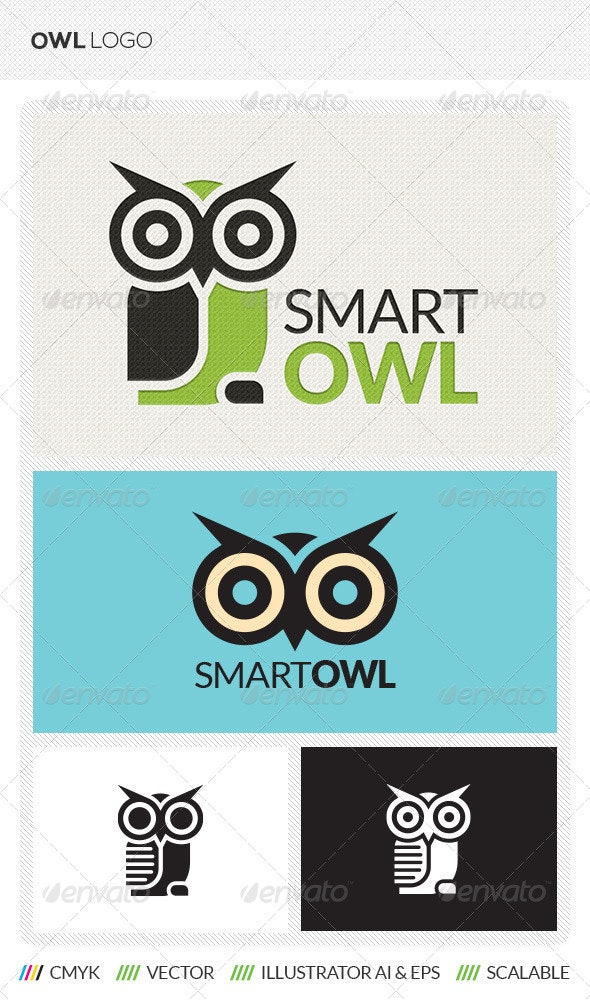 Owl Logo Template - Animals Logo Templates