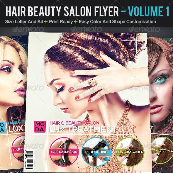 Hair And Beauty Salon Flyer | Volume 1
