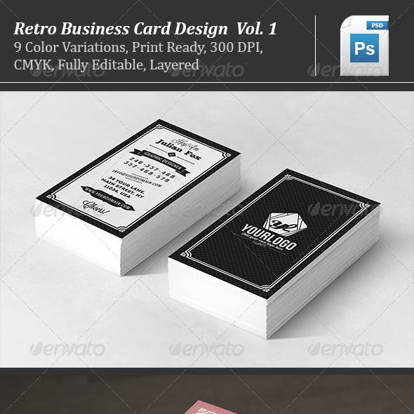 Retro Business Card Design Vol. 1