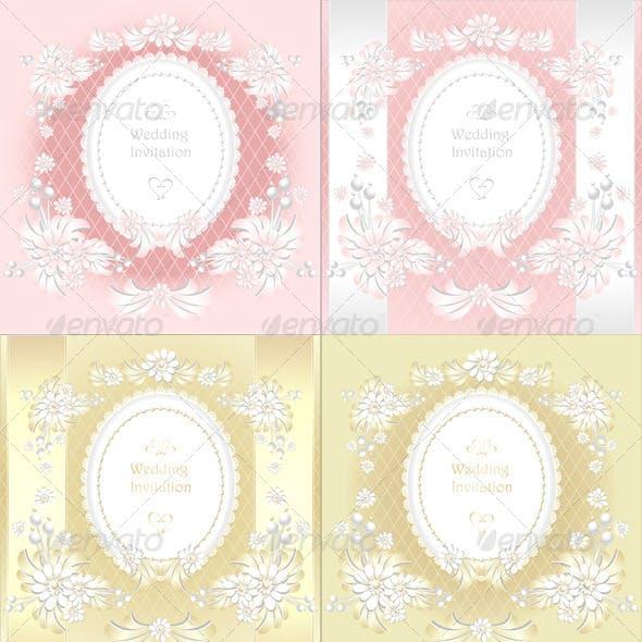 Wedding Invitation or Congratulation in Pink Gold