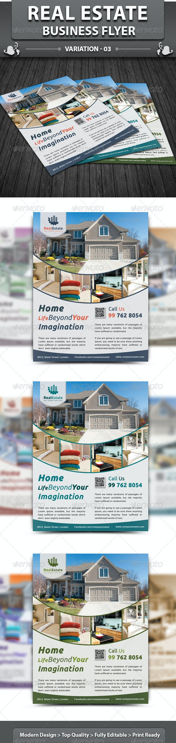 Real Estate Business Flyer | Volume 3 - Corporate Flyers