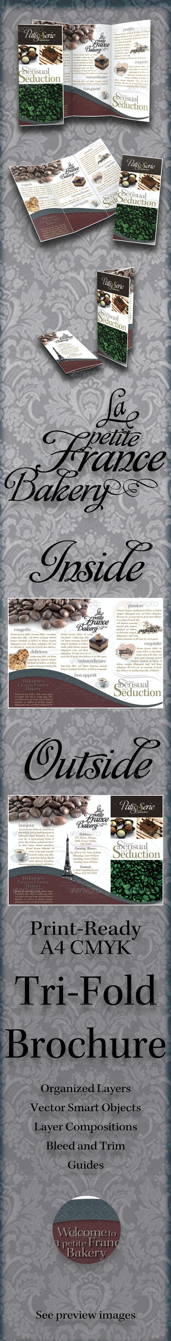 Tri-Fold Brochure - La Petite France Bakery - Corporate Brochures