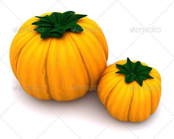 Pumpkins - 3D Backgrounds