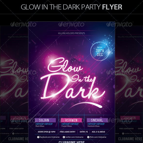 Glow in the Dark Party Flyer II