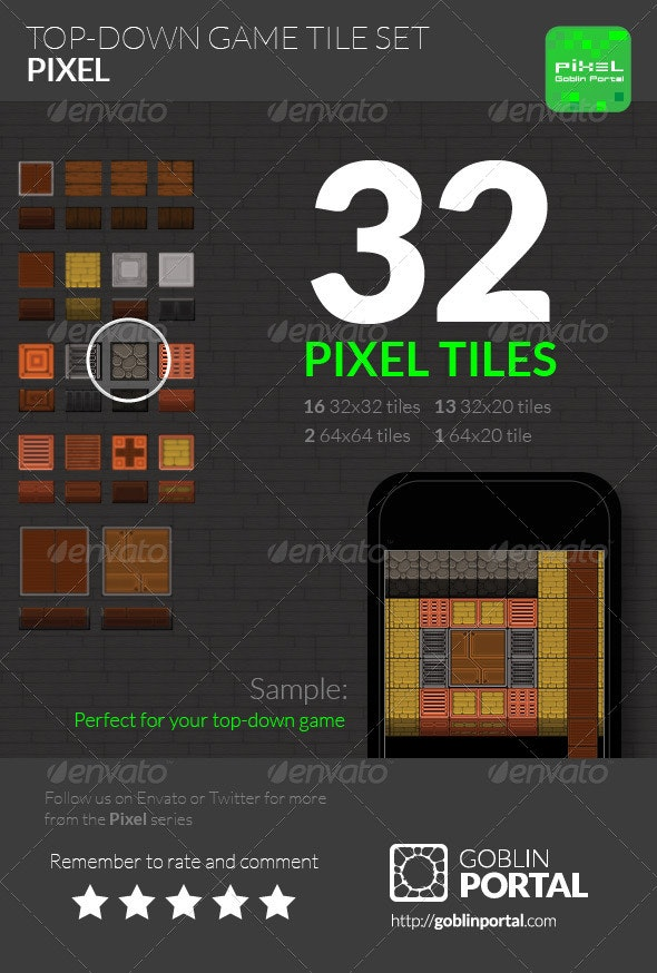Top-Down Game Tiles - Tilesets Game Assets