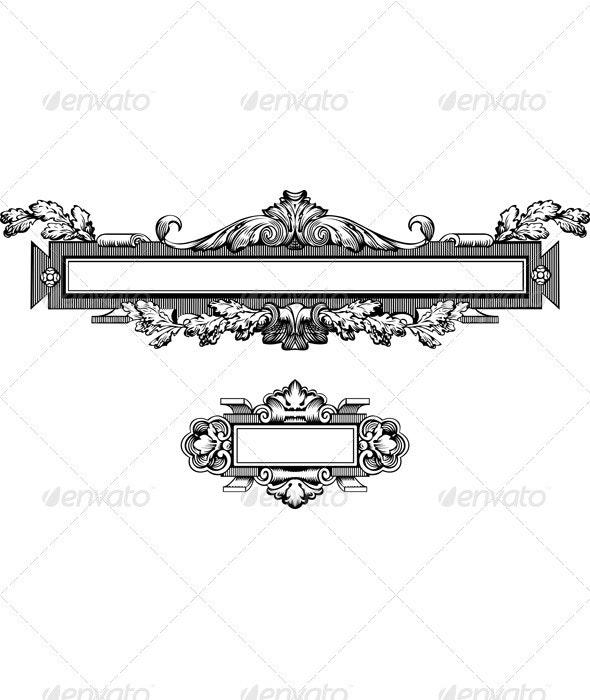 Antique Frame Engraving - Miscellaneous Conceptual