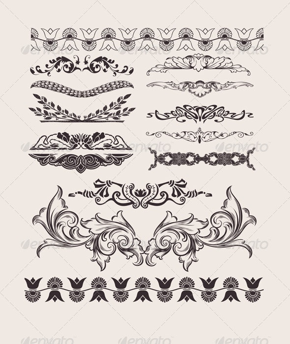 Set Of Different Style Design Elements - Retro Technology