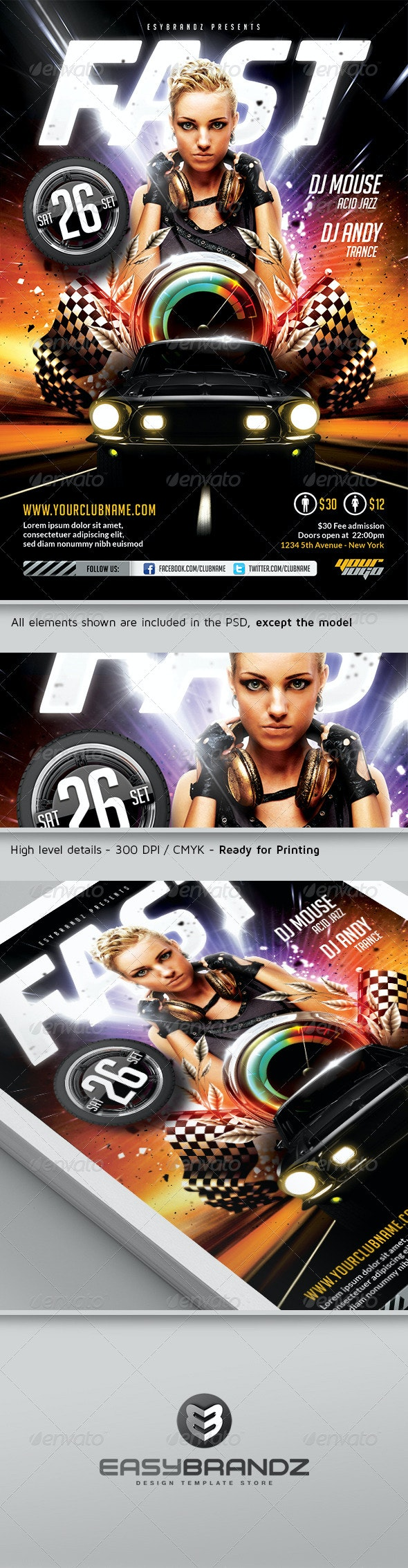 Fast Flyer Template - Events Flyers