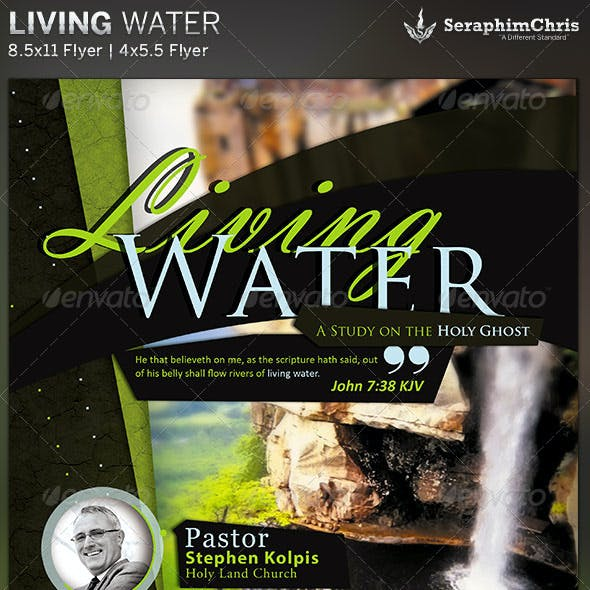 Living Water: Church Flyer Template