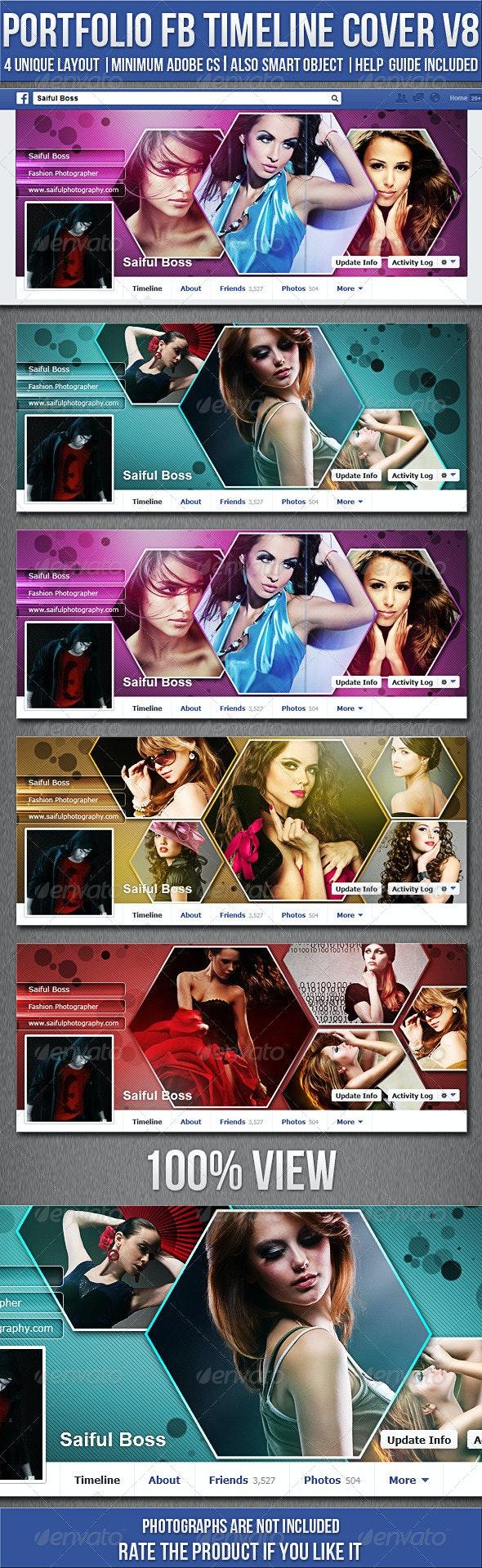 Portfolio Facebook Timeline Cover V8 - Facebook Timeline Covers Social Media