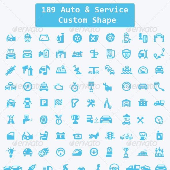 189 Auto, Service Custom Shape