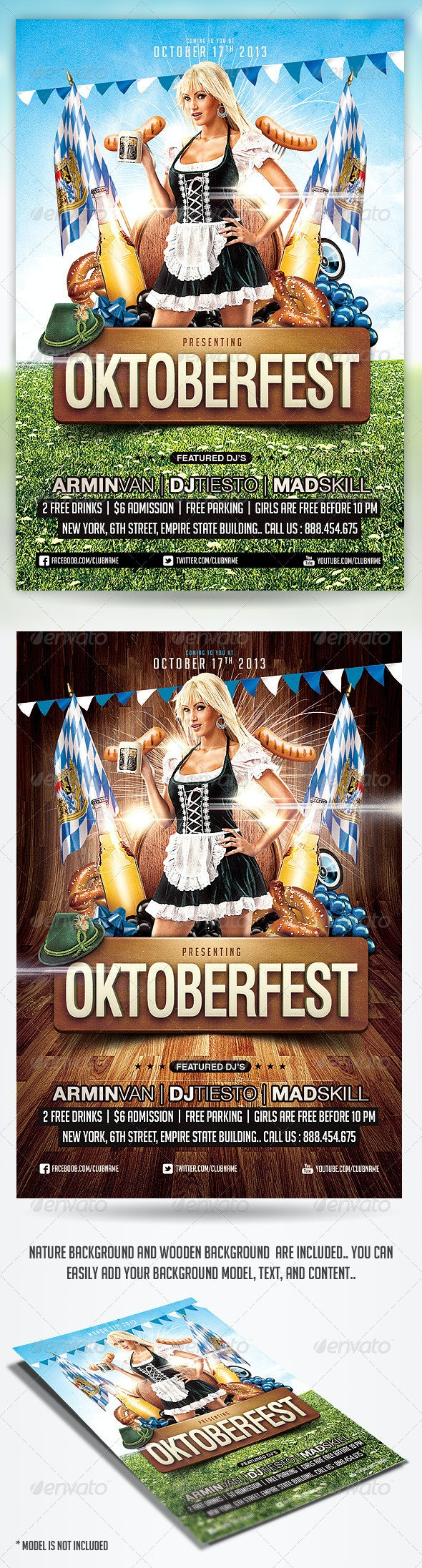Oktoberfest Party Flyer Template - Holidays Events
