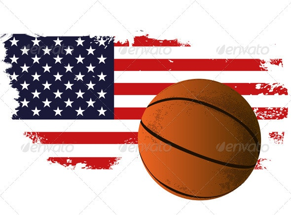 American Basketball Background - Sports/Activity Conceptual