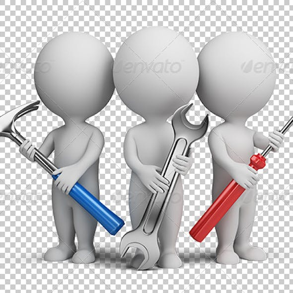 3d small people - repairers