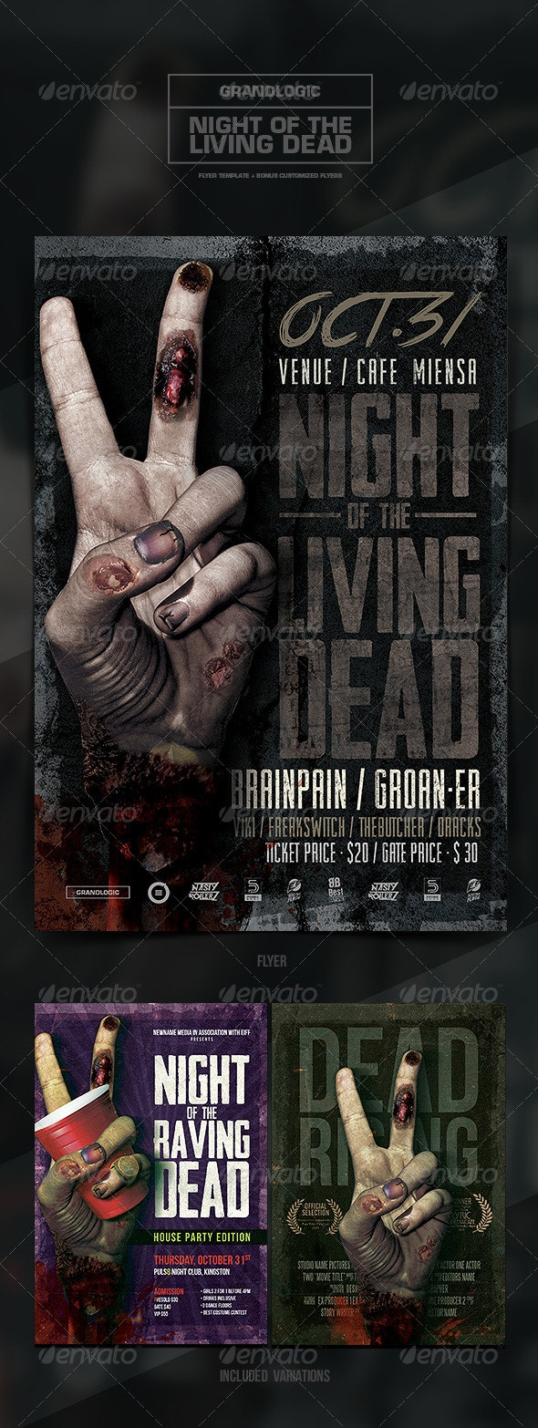 Zombie Hand Flyer/Poster - Clubs & Parties Events