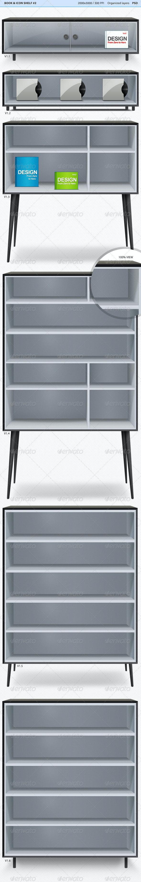 Book & Icon Shelf #2 - Miscellaneous Product Mock-Ups