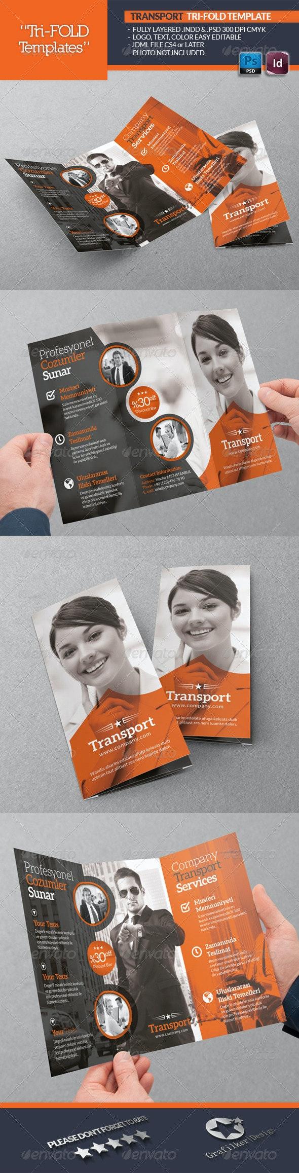 Transport Tri-Fold Template - Brochures Print Templates