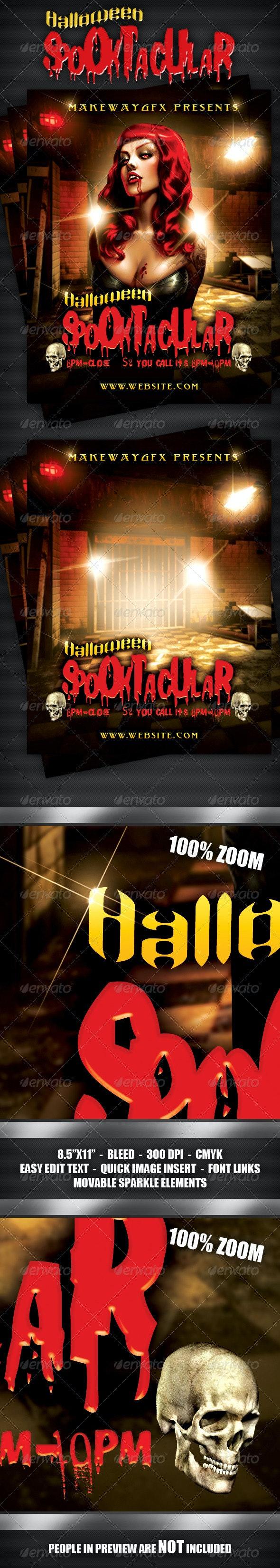 Halloween Spooktacular Flyer - Clubs & Parties Events