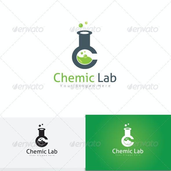 Chemical Lab C Letter Logo