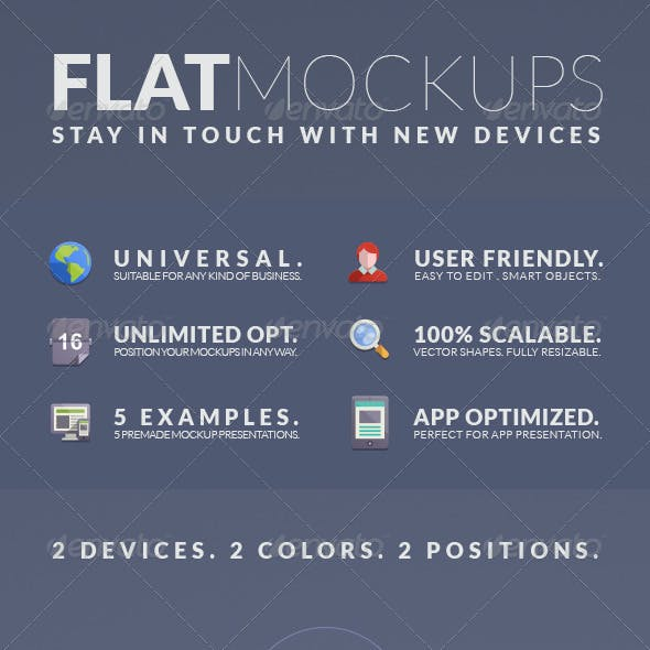Flat Mockups - Phone 6 and Pad Mini